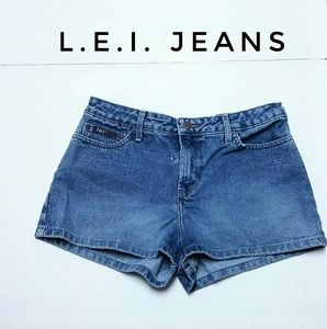 Junior's L.E.I. Jeans Denim Shorts Size 9